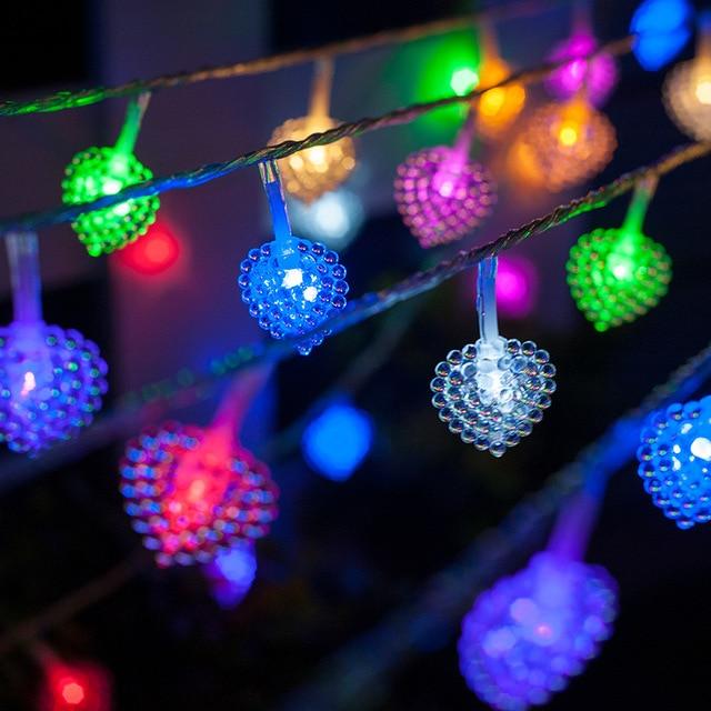 gerlyanda led string christmas lights decoration 10m 100 bulbs love heart light string garland wedding decoration