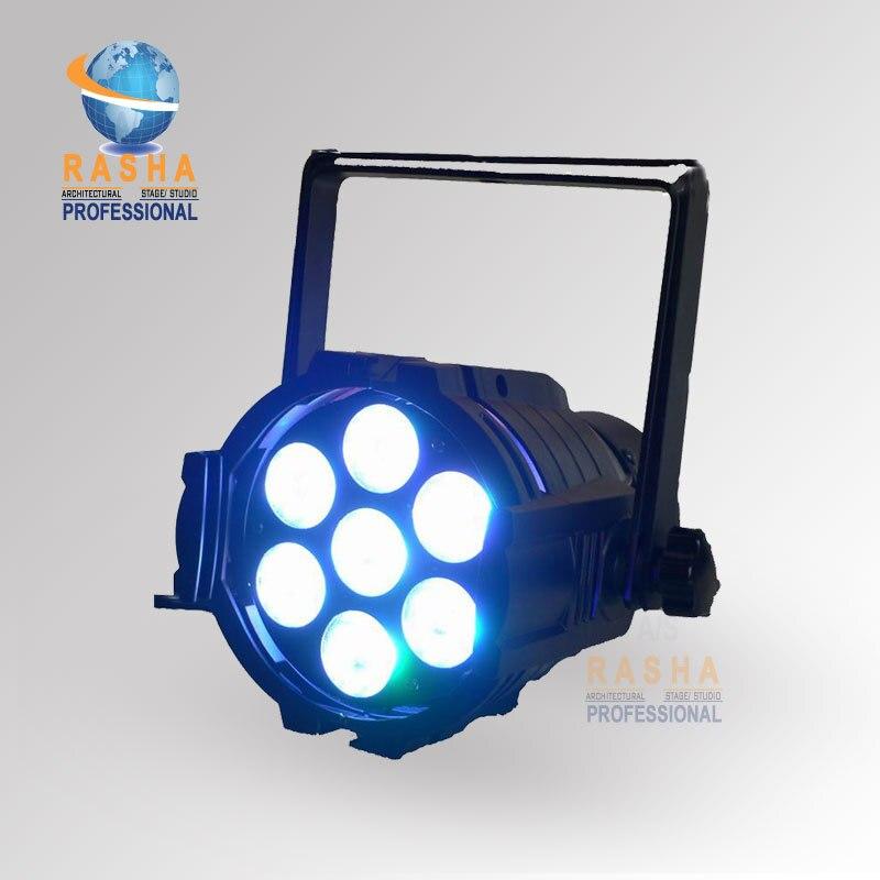 Rasha High Brightness 7pcs*10W RGBW 4IN1 Aluminium Mini LED Par Light,LED Mega Par38 Stage Light ADJ LED Par Light