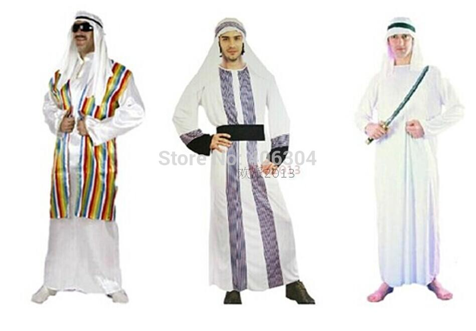 Free shipping , halloween party dress up costume adult men middle east Dubai prince Arabian costume clothes