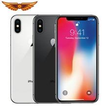 Original Apple iPhone X desbloqueado 5,8 pulgadas Hexa-core 3GB RAM 64GB/256GB ROM 12MP IOS LTE 4G Dual cámara trasera de teléfonos móviles