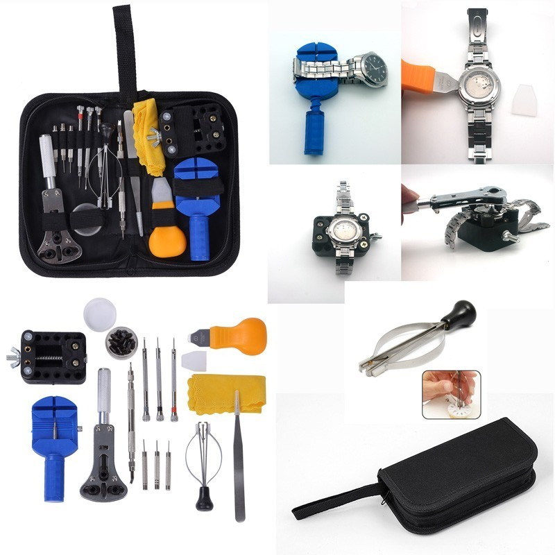 цена на Watch Opener Back Case Repair Tool Kit Watch Tools In Repair Watchmaker Tools Set Strap Case Opener Link Watch Pin Remover New