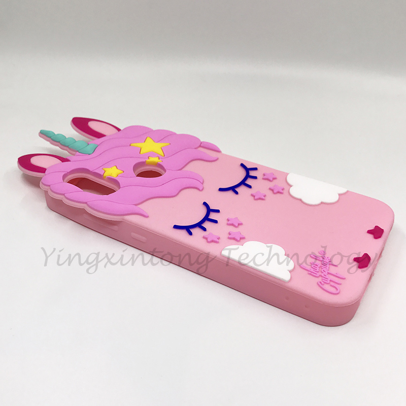 Cute 3D Cartoon Silicon Case For Xiaomi Mi A2 Lite Cases Soft Unicorn Pink Horse Lovely Ears Cover Redmi 6 Pro Phone Back Fundas in Fitted Cases from Cellphones Telecommunications