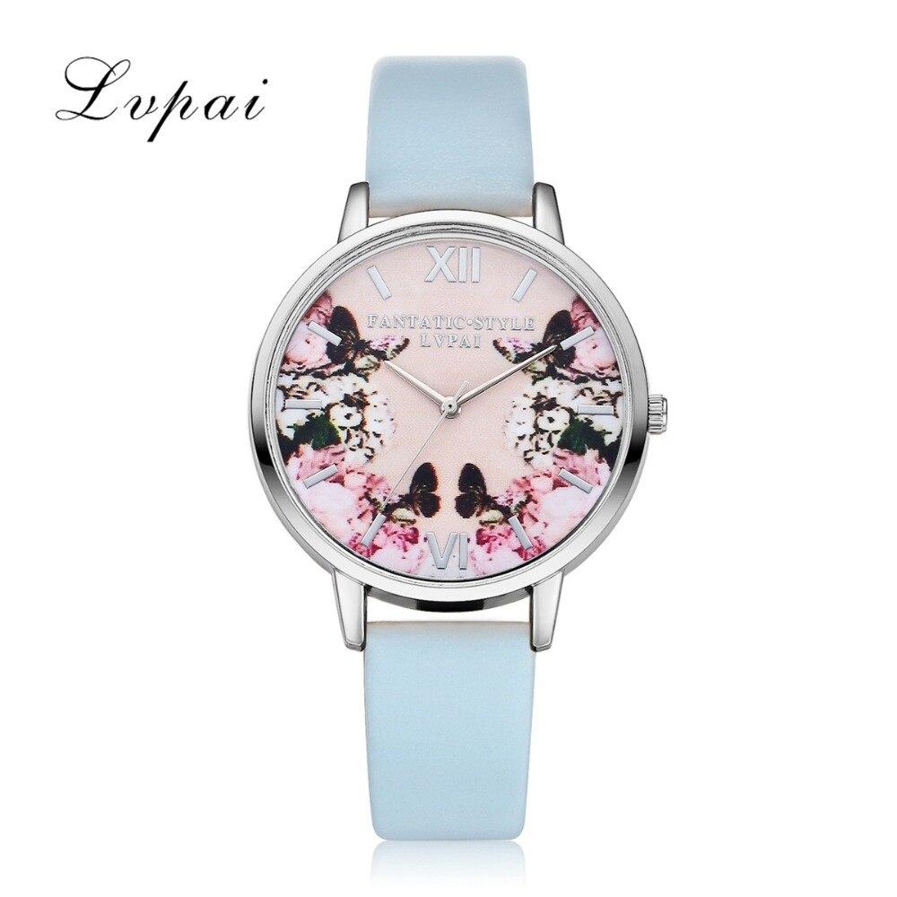 Lvpai luksusa ādas sieviešu kleita pulksteņi rokas pulkstenis - Sieviešu pulksteņi - Foto 5