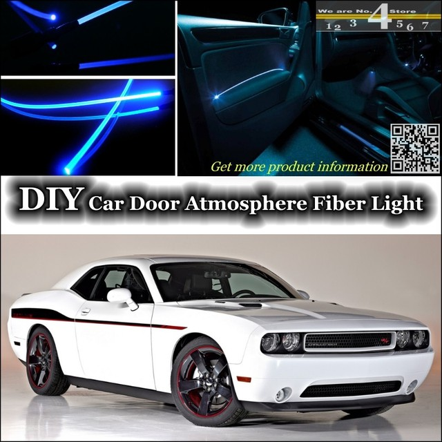 For Dodge Challenger SRT interior Ambient Light Tuning Atmosphere Fiber Optic Band Lights Door Panel illumination & For Dodge Challenger SRT interior Ambient Light Tuning Atmosphere ...
