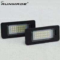 runmade Car Led License Plate Led Light Lamp 12V White 6000K For BMW E39 E60 E82 E90 E92 E93 M3 E39 E60 E70 X5 E60 E61 M5 E88