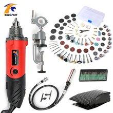 TUNGFULL Mini broyeur rotatif à vitesse Variable 500W, outils électriques, perceuse Dremel, graveur électrique, outil créatif de bricolage