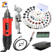 TUNGFULL Type Electrical Tools 500W Mini Grinder Variable Speed Rotary Grinding Dremel Drill Electric Engraver DIY Creative Tool