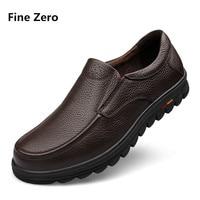Fine Zero Big Size 38 47 Mens Dress Italian Business Shoes Luxury Brand Mens Loafers Genuine
