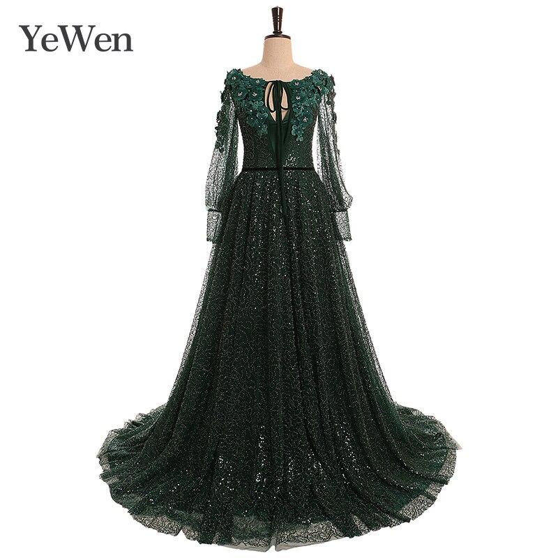 Green Elegant   Evening     Dress   Emerald Fashion   Evening     Dresses   Long Formal   Dresses     Evening   Gown 2019 Special Occasion   Dresses   YW013