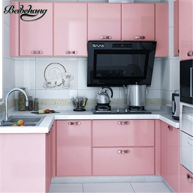 Beibehang Pearls Old Furniture Refurbished Sticker Thicker Cloth Wardrobe  Pvc Solid Color Wallpaper Self Adhesive