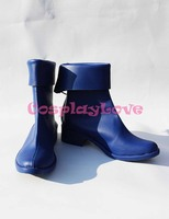 Magical Girl Lyrical Nanoha Takamachi Nanoha Blue Cosplay Shoes Boots Hand Made Custom Made For Halloween