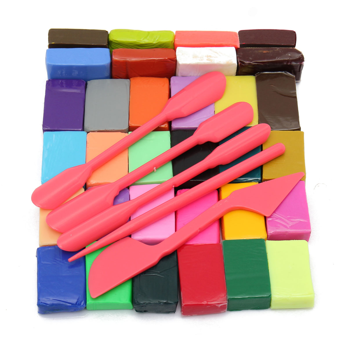 How to make clay toys use various shaping tools to - Wholesalediy 32 Color Oven Bake Polymer Clay Block Modelling Plasticine 5 Tool Hand Making Education Toy