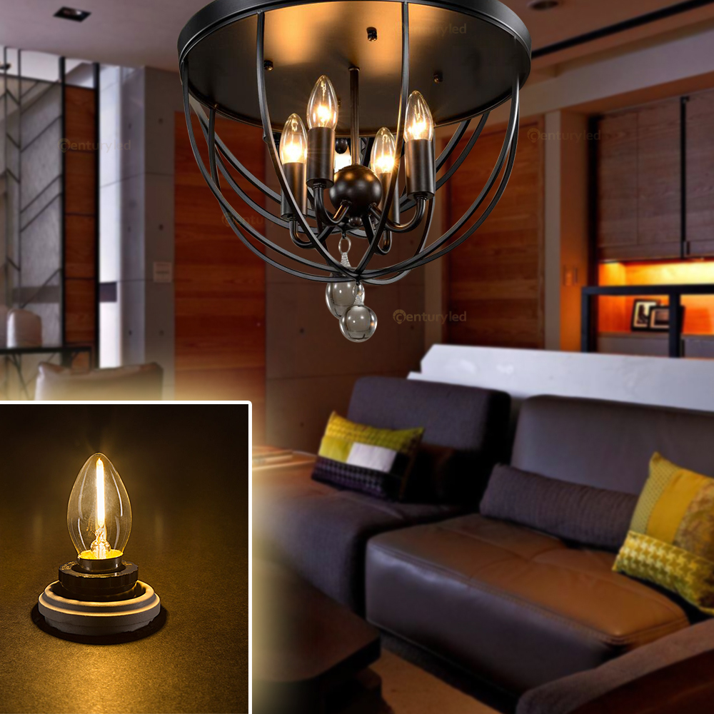 Купить с кэшбэком Ganriland C7 Refrigerator Led Bulb E12 E14 0.5w Dimmable Led Filament Light Bulb 2700k 110V 220V Chandelier Pendant Edison Lamp