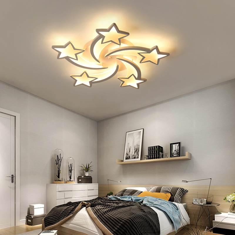 Image 4 - IRALAN modern led chandelier art deco room indoor lamp white star for living room dining room bedroom kid's room kitchen remote-in Chandeliers from Lights & Lighting