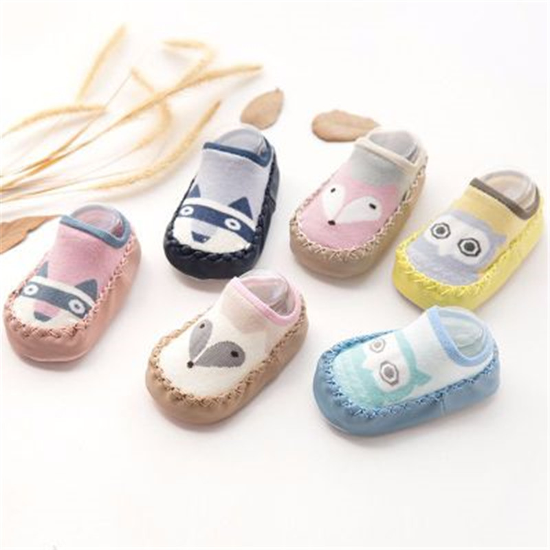 baby-shoes-socks-children-infant-cartoon-socks-baby-gift-kids-indoor-floor-socks-leather-sole-non-slip-thick-towel-socks