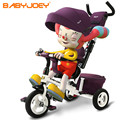 Fashion Children Hand Push Tricycle 2-3-5 Years Old 4 Colors Baby Carriage Car Cart