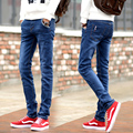Famous Spring summer Men Elastic Casual Straight Jeans Mid Cowboy Pants Skinny Blue Men Jeans Stretch Jeans Men Hot Size 27-36