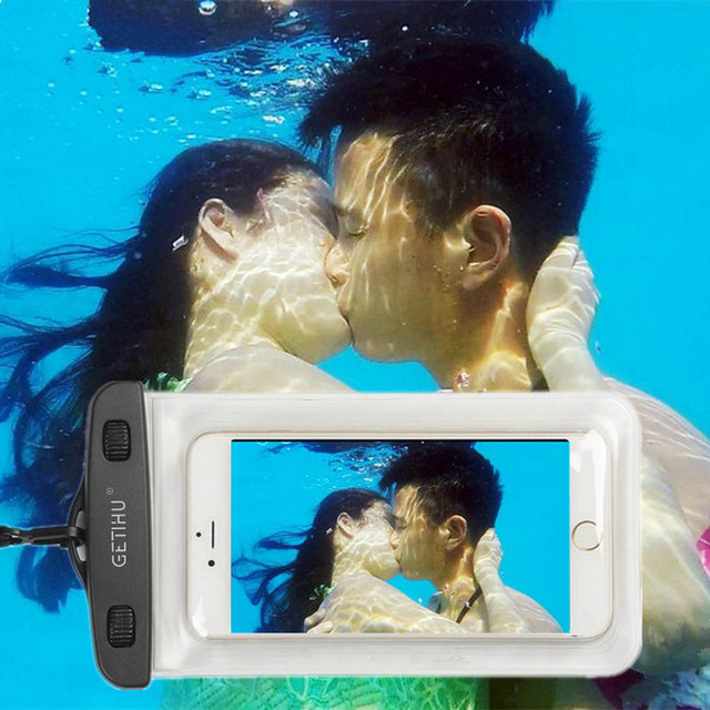 For iPhone 7 6 6s plus 5 5c 5s 4s Samsung galaxy S7 S6 S5 S4 edge plus Sealed Waterproof Underwater Mobile Phone Bag Pouch Case