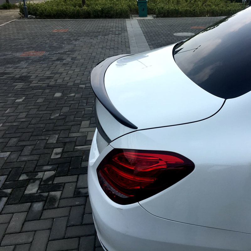 For <font><b>Mercedes</b></font> Benz <font><b>W205</b></font> C-class 2014 2015 2016 2017 2018 2019 Rear <font><b>Spoiler</b></font> ABS Material Primer Color Car Tail Wing Decoration image
