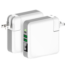 Global Travel Power Bank -External Wall Charger Qi Wireless Super Charging Pad Compatible for MacBook/ iPhone/ Samsung Galaxy