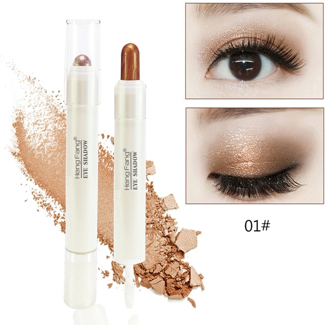 Brand highlighter eyeshadow sticker makeup lying silkworm pen waterproof smoky golden shimmer eye shadow creamy pen