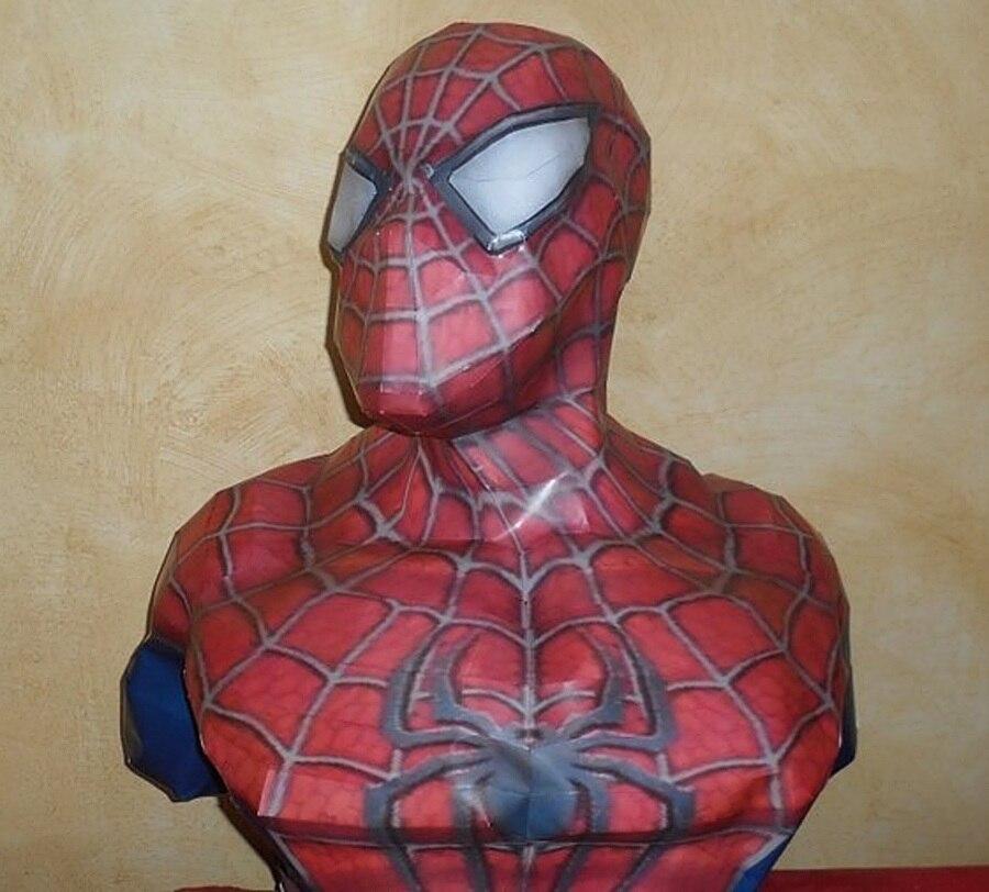 Superhero Spider-Man poitrine Image 3D stéréo papier modèle bricolage à la main décoration modèle