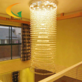 Crystal chandelier pendant Double Union villa staircase long LED crystal pendant lamp of modern living room hanging st