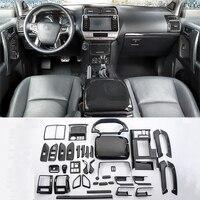 Аксессуары для стайлинга автомобилей 43 шт. для Toyota Land Cruiser Prado FJ150 2018 углеродное волокно текстура внутренняя накладка декоративный комплект