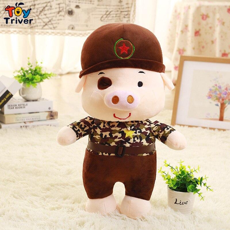 Hot 1pc Plush Camo Pig Soft Toys Stuffed Simulational Animals doll kids baby birthday christmas wedding