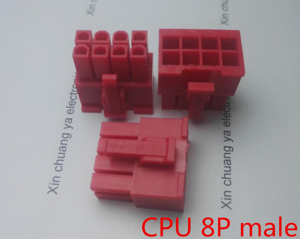 5557 4.2mm red 8P 8PIN male for PC computer ATX CPU Power connector plastic shell Housing 400pcs crimp female terminals pin plug 50pcs 5557 8 6 2 p atx eps pci e connectors with plastic box