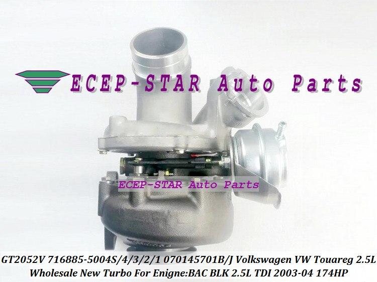 GT2052V 716885-5004S 716885 716885-0002 070145701B 070145701J Turbo For Volkswagen VW Touareg 2003-04 BAC BLK 2.5L TDI 174HP (2)