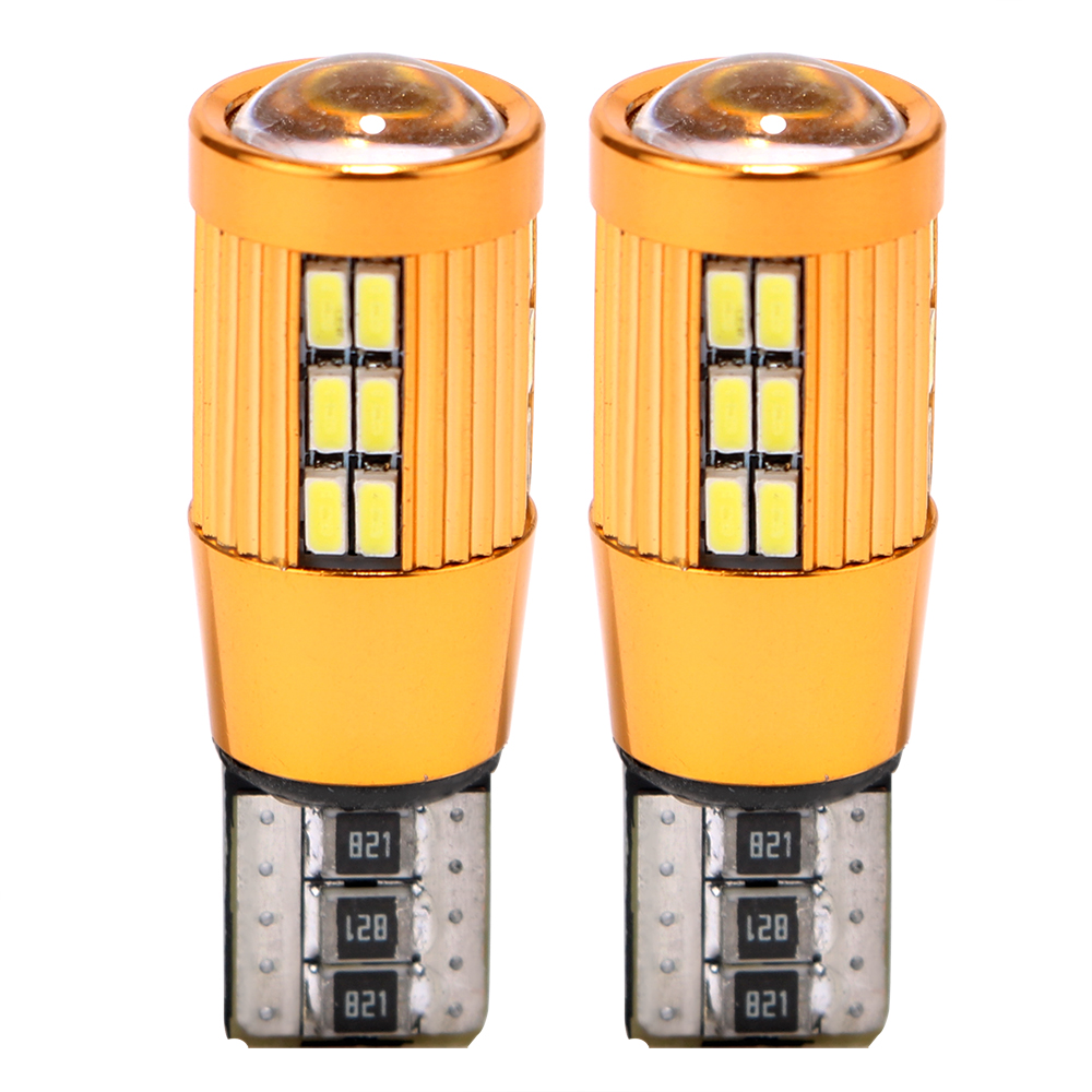 LEEPEE 2Pcs/Set Clearance Lights Dome Reading Light <font><b>T10</b></font> <font><b>3014</b></font> <font><b>30SMD</b></font> DC 12V Auto Licence Plate Light Car-styling image