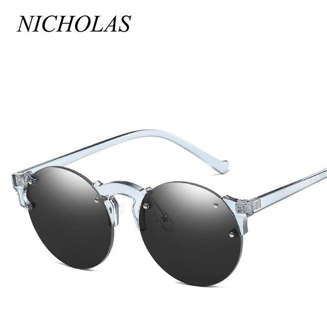 1977ee1e906979 NICOLAS De Mode Sans Monture lunettes de Soleil Femmes Marque conception  Femelle lunettes de Soleil Dames