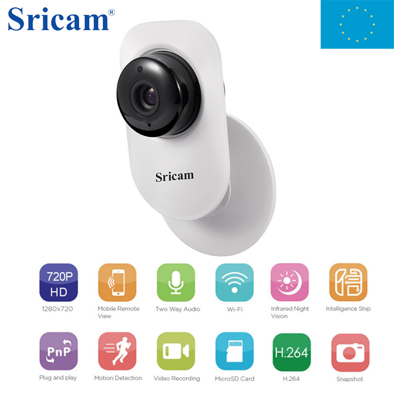Local Shipping ! lSricam Home IP Camera 90 Degree Wide Angle HD 720P Two-way Audio Activity Alert Smart Webcam CCTV Camera home ip wifi camera hd 5mp two way audio activity alert yunsye smart ip wifi webcam 360 degree panoramic camera ir cut