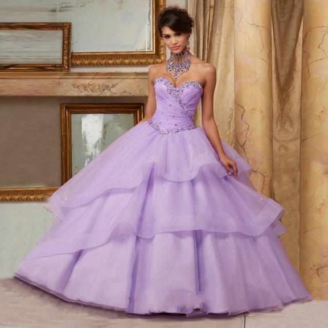 2737a4d513 Wejanedress Rebordear Del Organza Vestidos de Quinceañera Hermosos Vestidos  para Niñas de 16 años Cristales Sweetheart