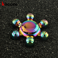 EDC Fidget Spinner Rotation Time Long Six Ball Tri Spinner Autism And ADHD Stress Relieve Toy