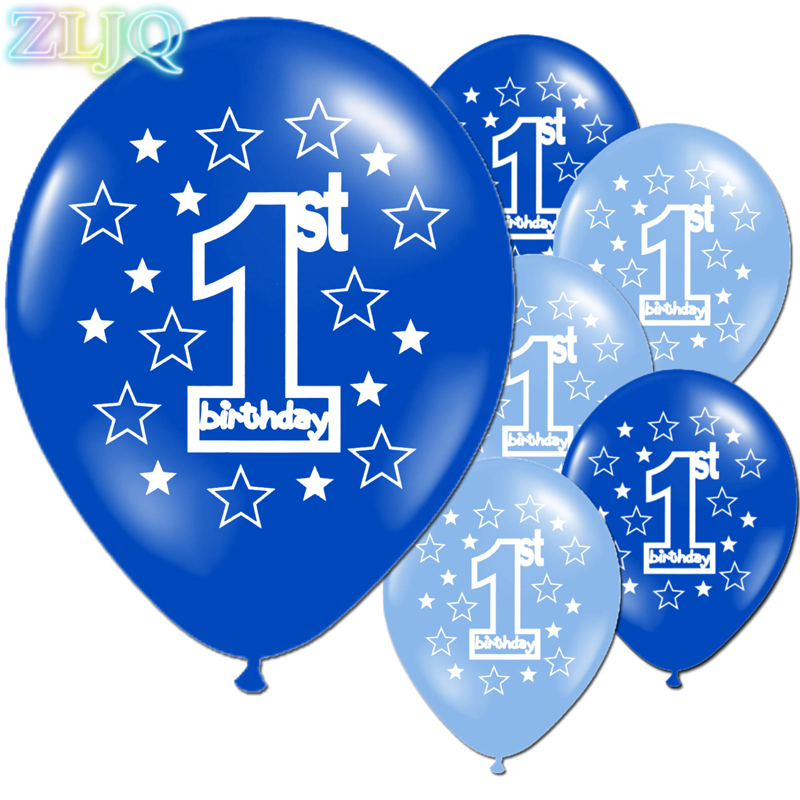 ZLJQ 10pcs Printing Balloons Baby Full Moon One Year Old