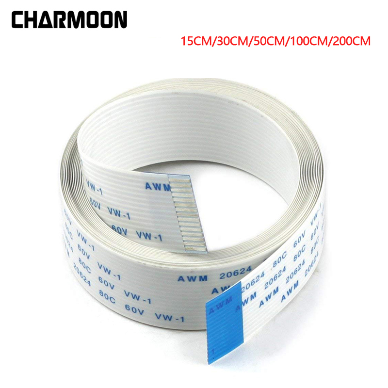 Ribbon FPC 15pin 0.5mm Pitch 30cm flat Cable Parts for Raspberry Pi Camera FT