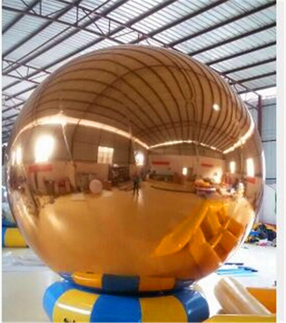 HEISSER Ballon Gonflable 1.5m Gold DecorationI aufblasbarer Spiegel-Ball, der aufblasbaren Ballon annonciert