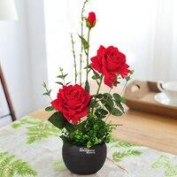 Rose Artificial Flower Decoration Set Fake Flower Arrangement Home Indoor Living Room Table Decoration Flower Decoration
