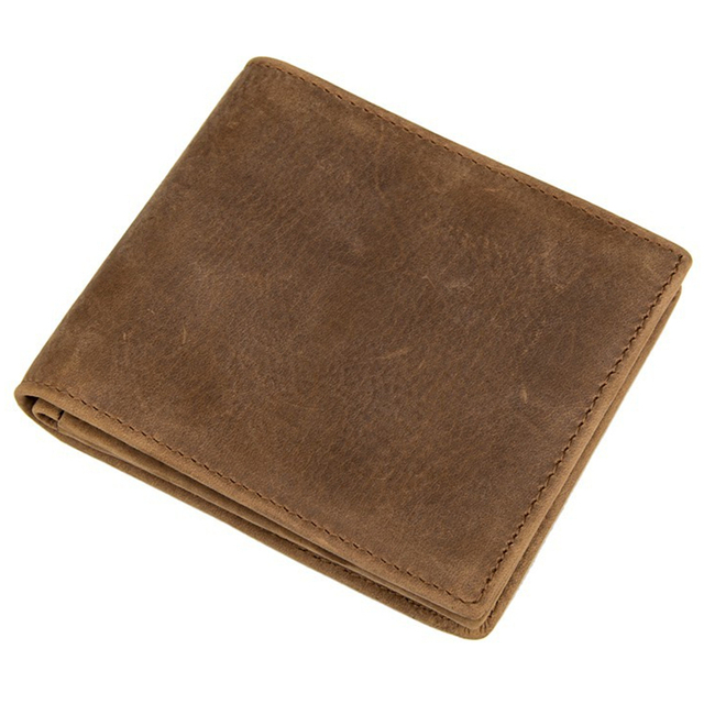 100% Top Quality Cow Genuine Leather Men's Wallets 2