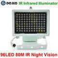 80 m de distância do IR 96 Leds Iluminadores infravermelhos de Luz IR Infrared luz LED Da Câmera do CCTV Noite-visão noturna Luz de Preenchimento para CCTV Segurança câmera