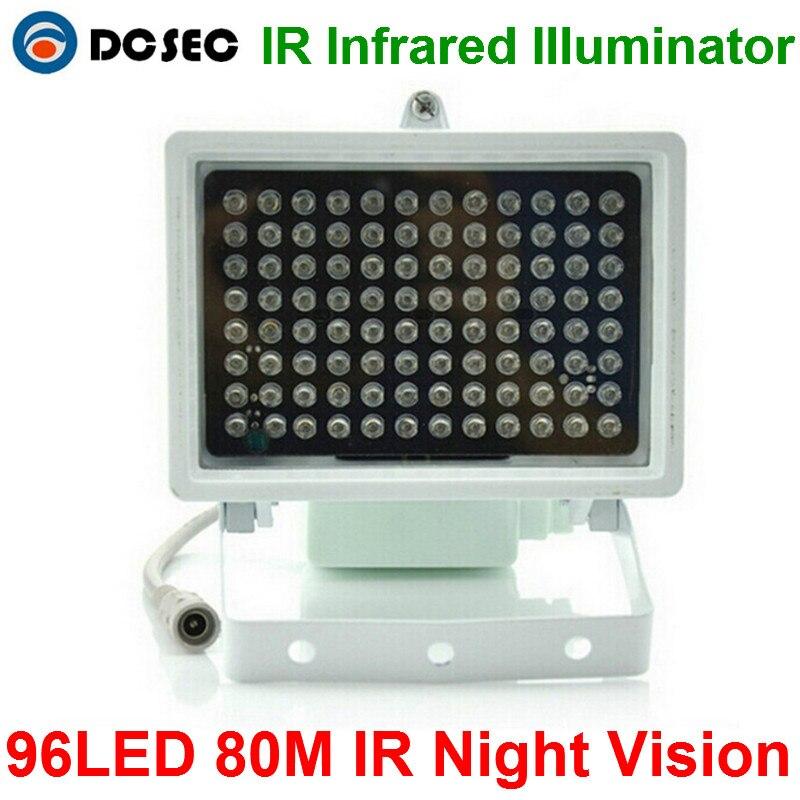 imágenes para 80 m distancia IR 96 Led Iluminadores ir Infrarroja Luz IR luz LED Cctv Luz de Relleno de visión nocturna de Seguridad CCTV cámara