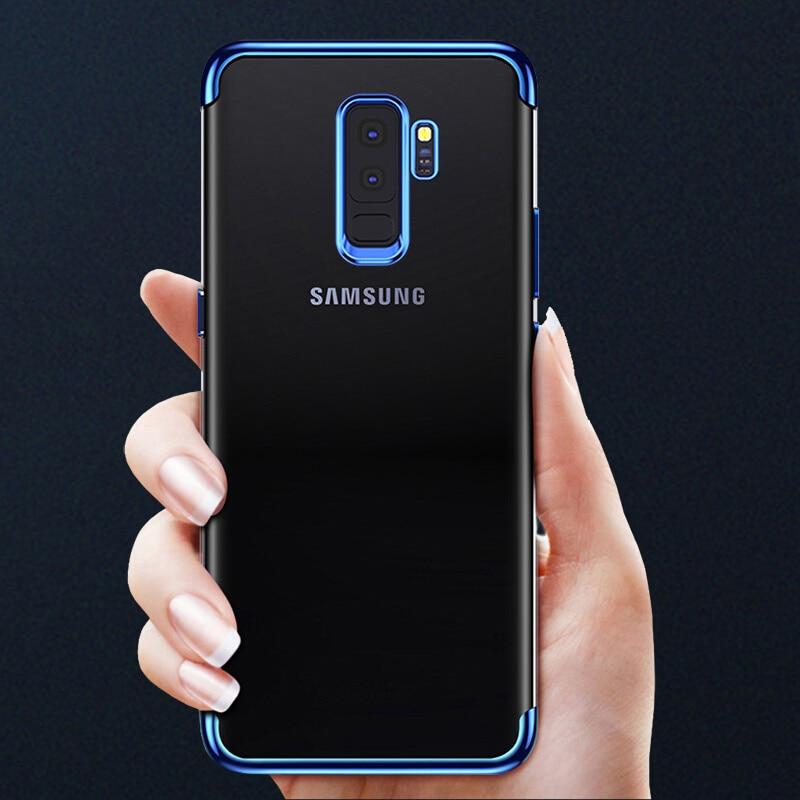 Soft TPU Samsung Galaxy S8 Plus Case S9 A6 A8 Plus  Plating Full Cover For Samsung A3 A5 A7 J5 J7  Case