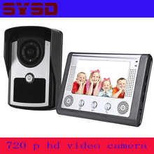 "7"" TFT LCD Wired Video Door Phone Visual Video Intercom Speakerphone Intercom System With Waterproof Outdoor IR Camera"