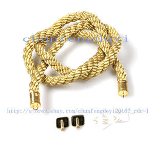 4c0706ad35f8 1Pc Top Car Rearview Mirror Charms Good Luck Golden Kin Tsuna Rope Hang Vip  Gift