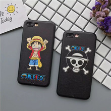 High Quality Soft Silk Leather Cover Cartoon One Piece Luffy Fundas Phone Cases for iPhone 7 6 6S Plus Caso Coque Capas Para