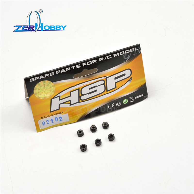 Nylon Nut M3 02102 HSP 1:10 Spare Parts For RC  94180 Car