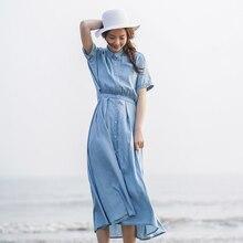 INMAN 2018 estate nuovo il disegno della parte posteriore scavato out Falso in due pezzi abiti denim donna.