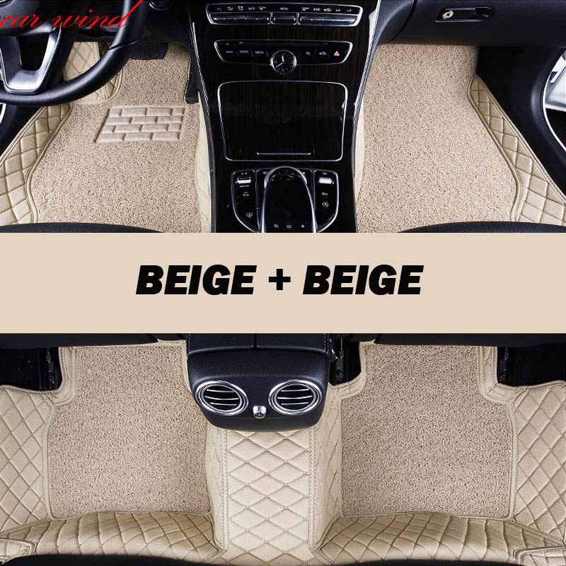 Car wind Leather Auto car floor mat For hyundai creta solaris elantra tucson 2008 santa fe 2007 i30 ix35 accent car accessories